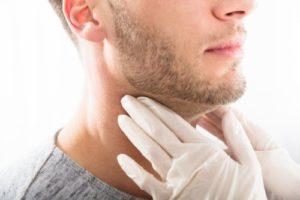 examining glands