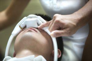 Dental patient getting nitrous oxide